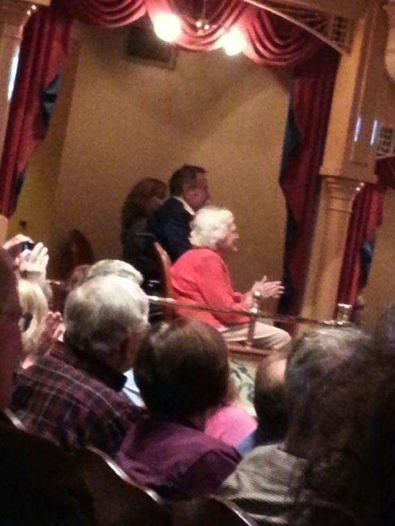 Bushes attended Oak Ridge Boys concert