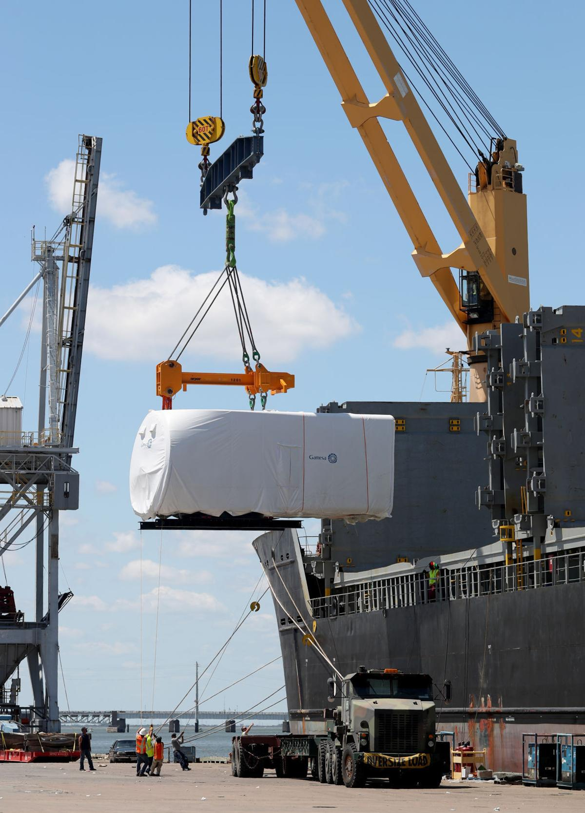 Wind energy imports keeping port busy