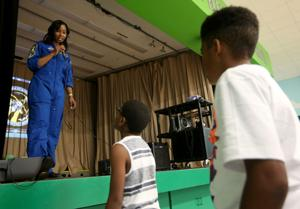 Astronaut speaks at summer camp