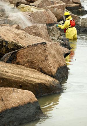 Washing the rocks