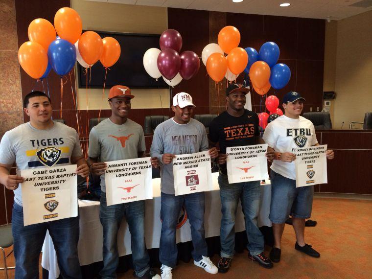 College bound athletes' big day