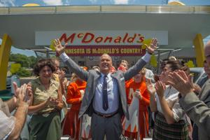 "<p>Michael Keaton, center, in ""The Founder.""</p>"