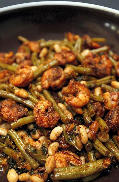 Paprika Shrimp and Green Bean Sauté