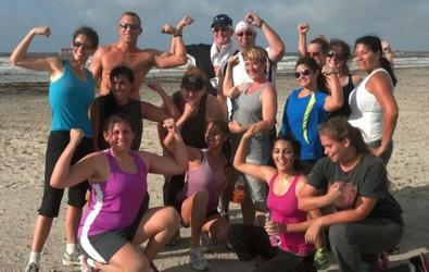 Beachfront boot camp