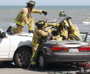 Seawall crash