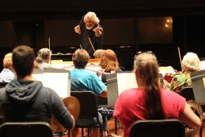 <p>Conductor Trond Saeverud rehearses with the Galveston Symphony Orchestra on Oct. 10, 2015, at The Grand 1894 Opera House in Galveston. The orchestra will feature Austrian and French composers during its Oct. 2 concert.</p>