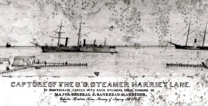 The Harriet Lane is captured