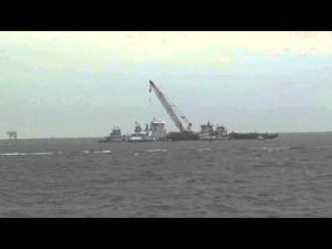 Crews work to reopen shipping lanes after oil spill Part 3