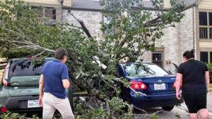 Heavy storms push through Galveston County
