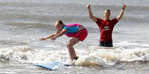 Surfing to stay fit