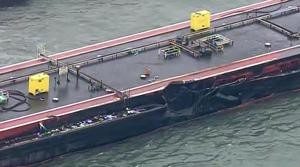 Barge damaged