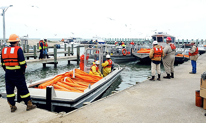 Emergency response crews prepare