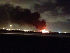 Fire in La Marque