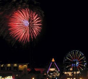 Fireworks on the boardwalk