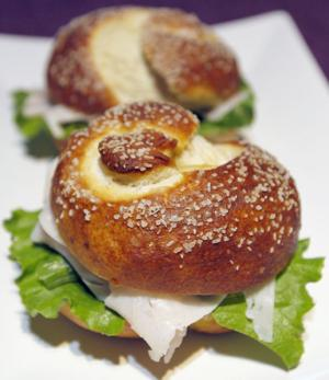 Try baking pretzel rolls at home