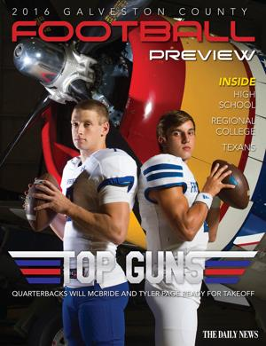 From star quarterbacks taking center stage to La Marque making the move to Class 3A, storylines abound for the 2016 football season in Galveston County. The Daily News' 2016 Football Preview covers those stories and more, including the University of Houston Cougars, regional college teams and the Houston Texans.  Read online using the links below or view the E-Edition.