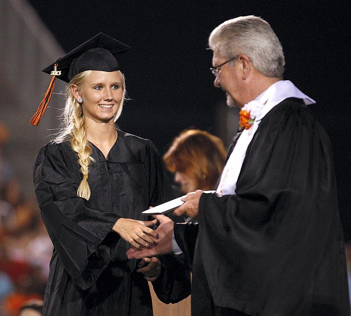 Grabbing the diploma