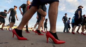 "Photos:  ""Walk a Mile in Her Shoes"" event"
