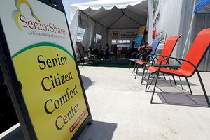 Seniors can use comfort center