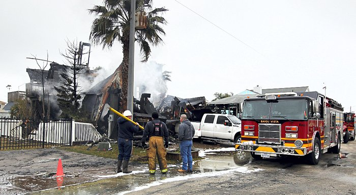 Fire destroys home