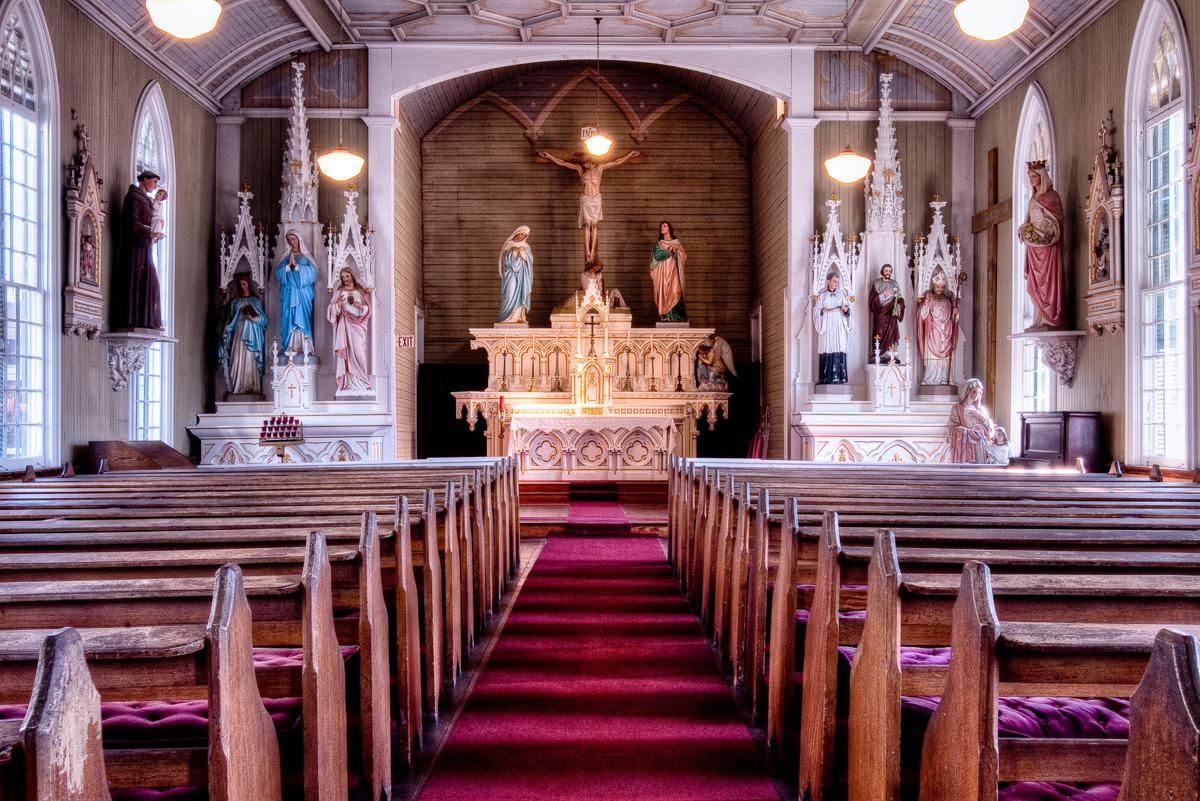 Inside of St. Joe's Church