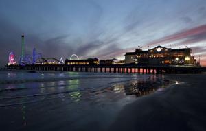 Pleasure Pier at sunset