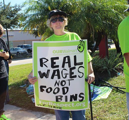 Walmart food drive sparks protests