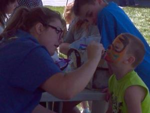 Face Painting In Donkey Creek Festival 2013