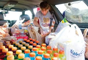 Camel football community shows support in food drive