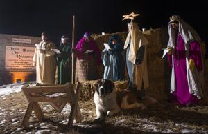 Volunteers brave cold for living nativity scene at Christ Our Redeemer church