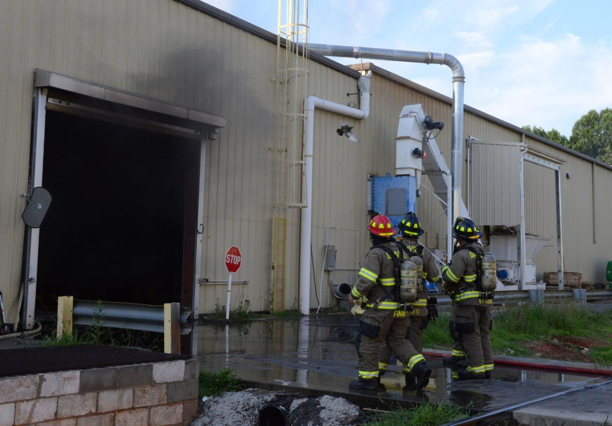 Crews battle fire at columbia flooring in danville for Columbia flooring careers danville va