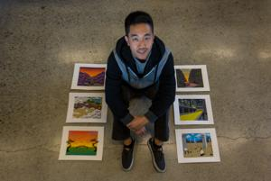 Senior incorporates philosophical themes to create captivating art for Friday's exhibit