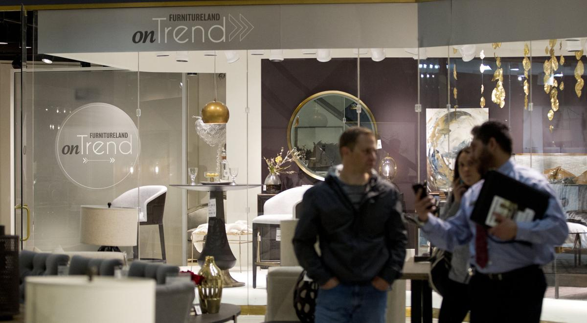 Through the looking glass tour furnitureland south in for Furnitureland south