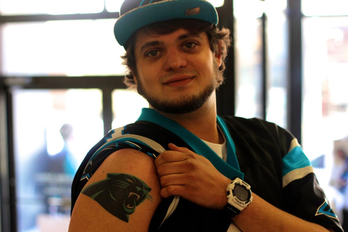 Greensboro panthers fan gets tattoo in honor of team for Carolina panthers tattoos