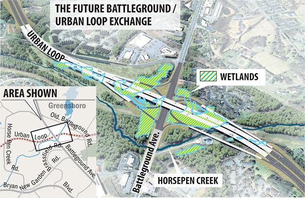 Greensboro beltway (I-840/I-73/I-85/I-785) (Burlington, Reidsville on cooper's point south carolina map, i-40 map, rt 74 north carolina map, conway bypass map, hwy 74 nc map,