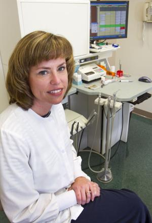 Photo of Greensboro NC dentist Michelle Mottinger by H. Scott Huffman