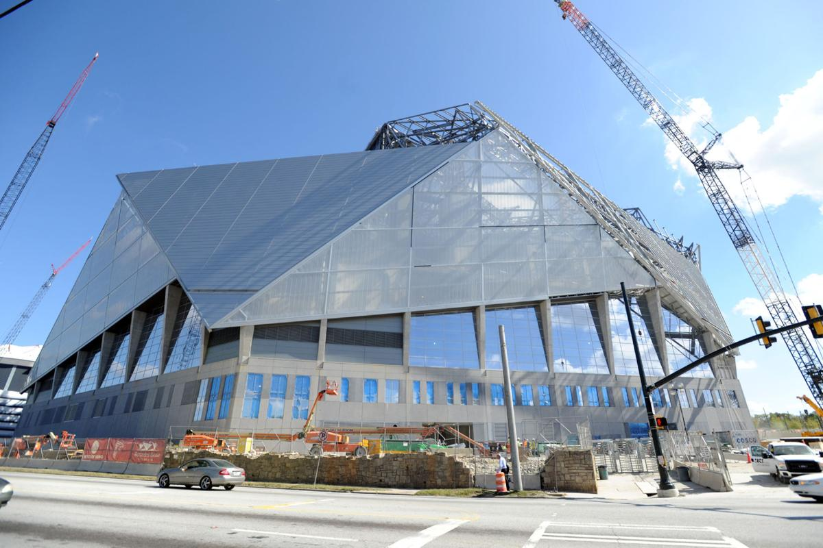 Mercedes benz stadium to delay opening dome demolition on for Mercedes benz gwinnett ga