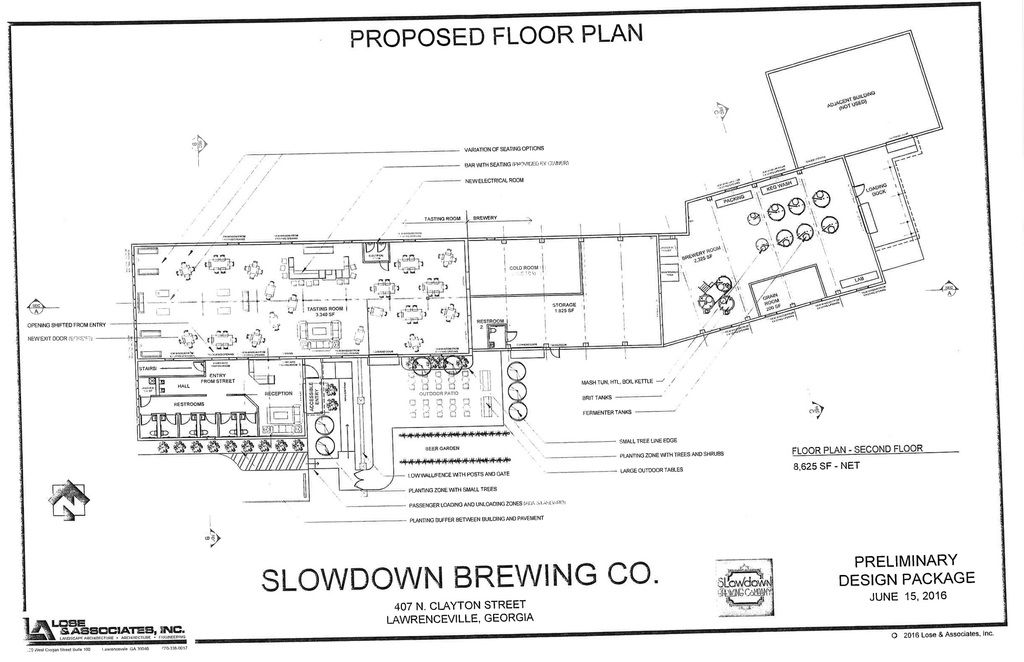 Lawrenceville oks rezoning for planned brewery news for Brewery floor plan