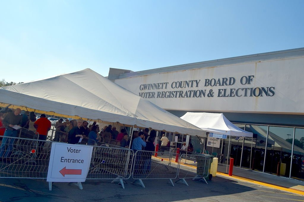Gwinnett smashes early voting turnout record | News | gwinnettdailypost.com