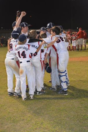 <p>The Winnsboro 11 year old All-Stars celebrate after winning the 2014 Dixie Youth World Series Championship.</p>