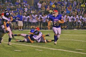 <p>West Ouachita's Joseph Tassin is listed as third in the state for rushing  and scoring with 48 carries for 466 yards and 7 touchdowns which gives him 42 points on the 2014 season.  Tassin also has the state's fifth best rushing yardage in game with 22 carries for 287 yards with 5 touchdowns against Sterlington on Friday, September 12.  Tassin's 5 touchdowns against Sterlington is the state's fourth most points scored in a single game.</p>