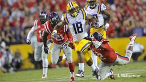 <p><span>Terrence Magee and the LSU running backs had 264 yards on 55 carries.</span></p>