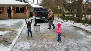 Snow day in Ouachita Parish