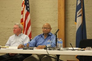<p>Winnsboro city attorney Tab Singer (left) and Mayor Jackie Johnson. </p>