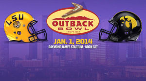 <p>The LSU Tigers will take on the Iowa Hawkeyes on New Year's Day at the Outback Bowl in Tampa Bay, Florida.</p>