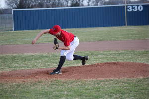 <p>Franklin Parish senior Jordan Newton fanned 18 FCCS batters in the Patriots' 11-3 win over the Warriors in the Rayville Tournament on Saturday. </p>
