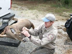 <p>Scott Durham, Deer Study Leader with LDWF urges deer hunters to report the harvest of each deer taken.</p>