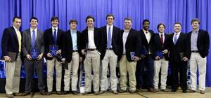 St. Frederick holds banquet to honor 2014 football team