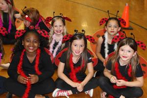 <p><strong>The Vidalia</strong> Lower Elementary First Graders recently performed their Spring play, Bugz. Pictured are several of the Lady Bugs, front row, from left, Jade Duson, Molly Shirley, Ali Welch. Back row, from left, Sara Dickinson and Addison K. Johns</p>