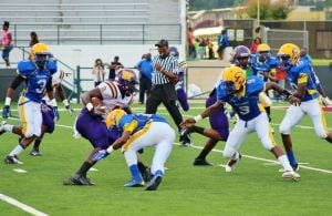 <p>Wossman running back Ladarrius Thomas (#8) is ranked second in the state for single game rushing with 33 carries for 329 yards with 2 touchdowns against Carroll on Friday, September 12.  </p>
